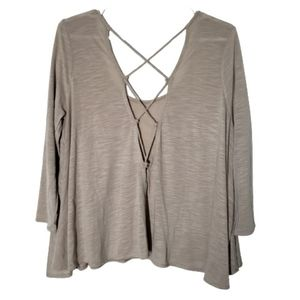 American Eagle oversize sweater, lace up back